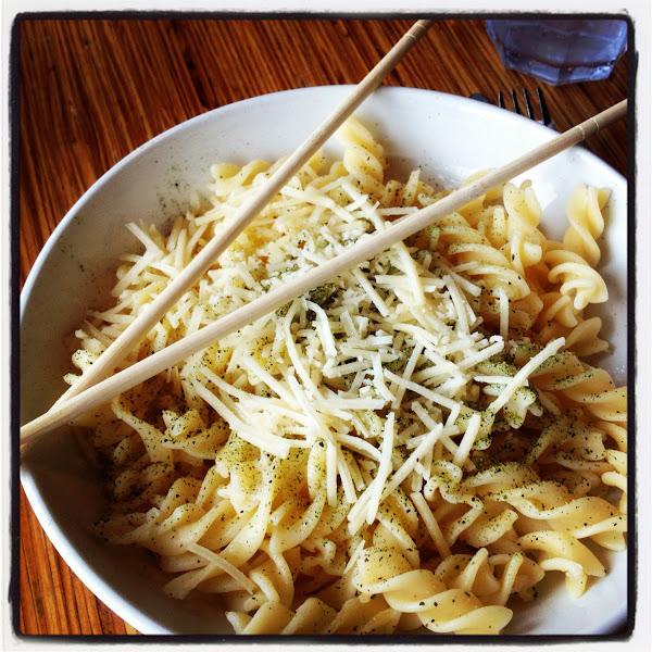 Buttered Noodles with GF Fusilli noodles