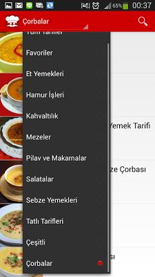 Yemek Tarifleri - internetsiz - screenshot