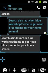 GO SMS Pro Theme Ice Minimal - screenshot thumbnail
