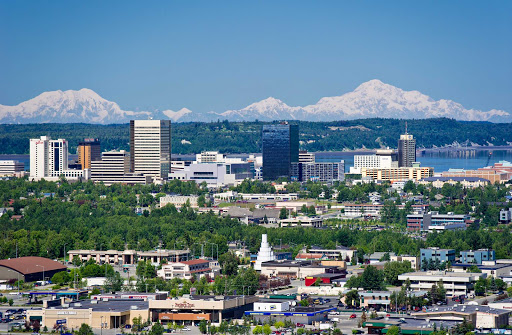 Anchorage-skyline1 - The skyline of Anchorage, capital of Alaska.