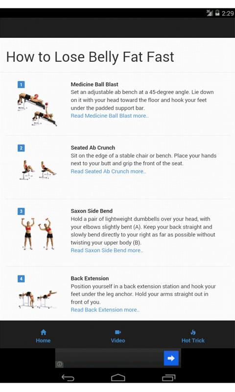 How to Lose Belly Fat Fast - Android Apps on Google Play