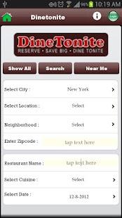 DineTonite- screenshot thumbnail