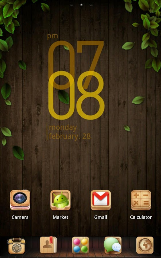 wooden box Theme - screenshot