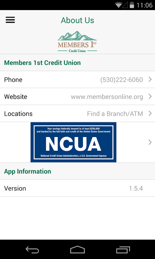 Members 1st Credit Union- screenshot