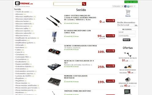 Tienda iluminacion sonido - screenshot thumbnail