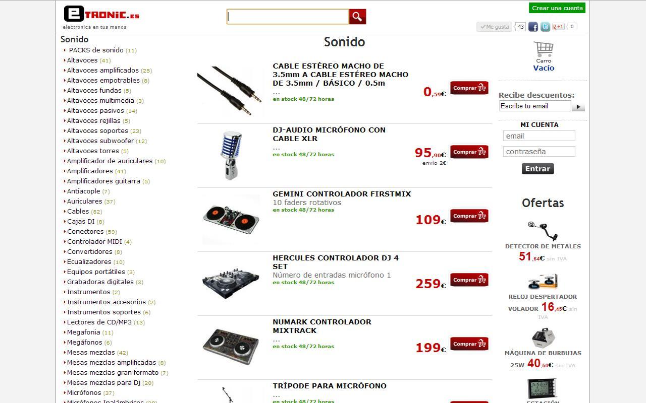 Tienda iluminacion sonido - screenshot