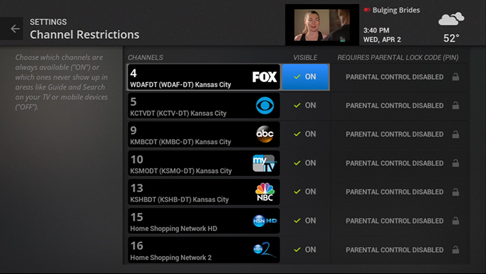 Block access to a channel on legacy Fiber TV