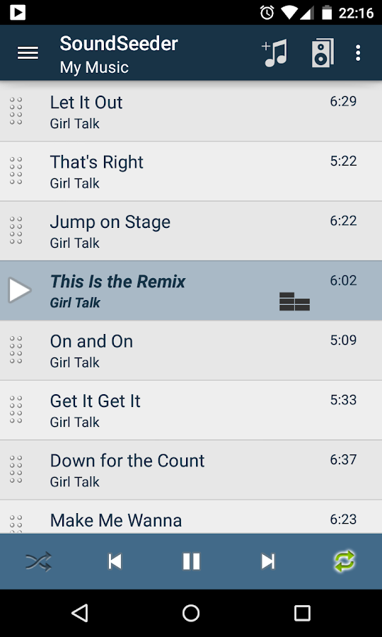 SoundSeeder Music Player - screenshot