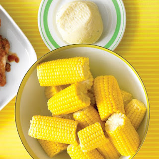 Corn on the Cob with Cheesy Butter.