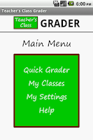 Screenshot of Teacher's Class GRADER FREE