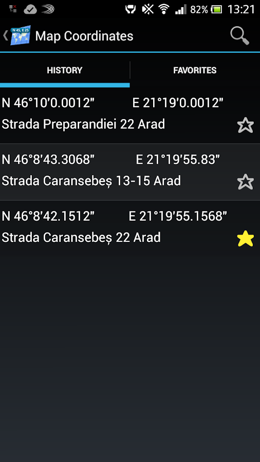 Map Coordinates - screenshot