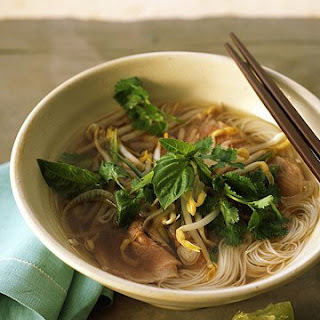 Vietnamese Beef Noodle Soup with Ginger.