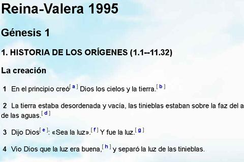 Biblia Reina Valera 1995 - screenshot
