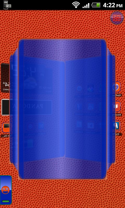 TSF Shell Theme Orange Blue HD - screenshot