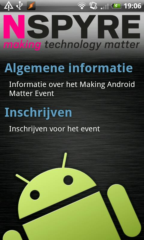 Nspyre Android Event - screenshot