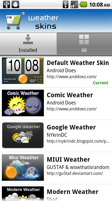 Fancy Widgets - screenshot