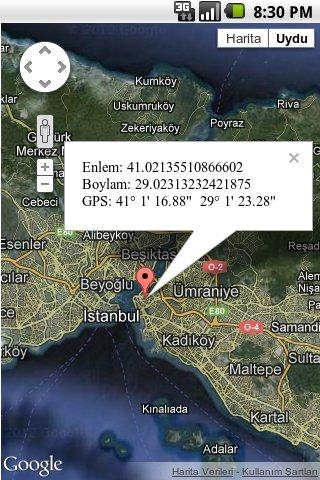 GPS Coordinates Finder - screenshot