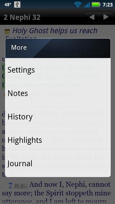 LDS Scriptures App- screenshot