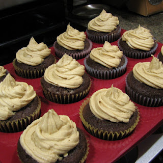 Chocolate Cupcakes with Peanut Butter Icing