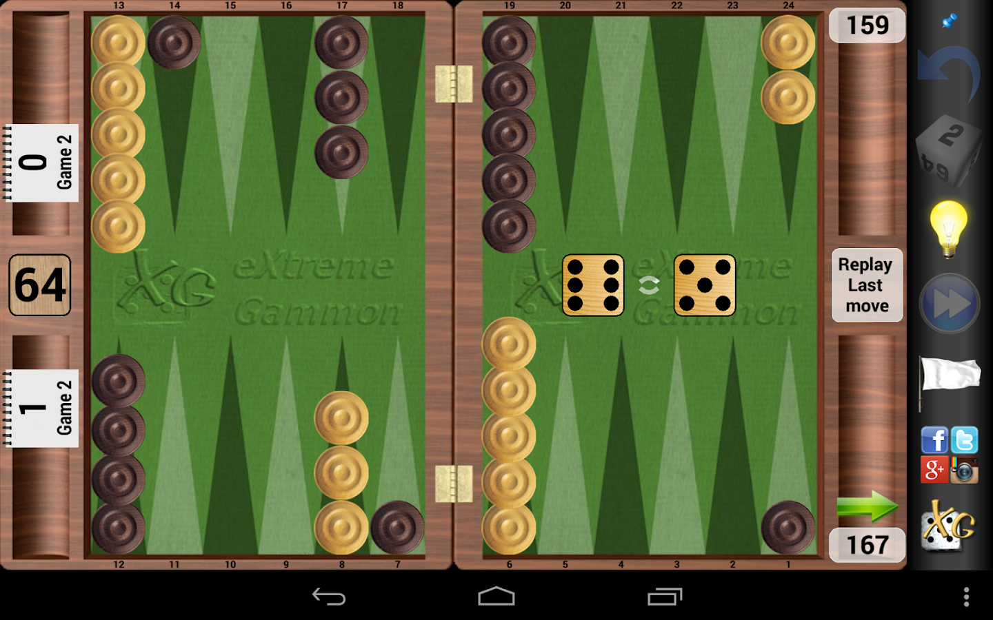XG Mobile Backgammon - screenshot