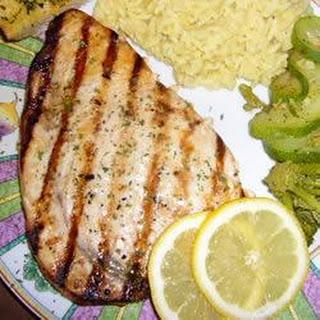 Barbecued Marinated Swordfish Recipe