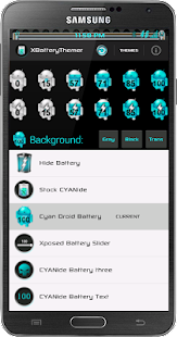 Xposed Cyan Droid Battery