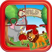 Wild Animals Puzzle For Kids