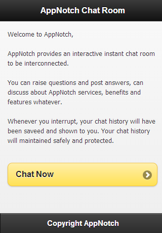 AppNotch Chat Room - screenshot