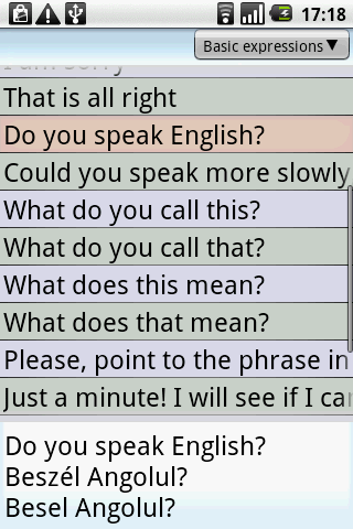 BKS English-Hungarian PhraseBk - screenshot
