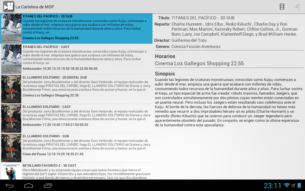La Cartelera de MDP - screenshot