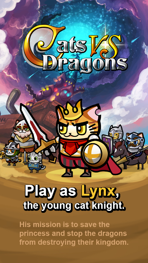 Cats vs Dragons- screenshot