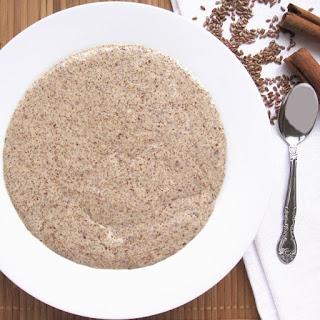 Low Carb Hot Cinnamon Flax Meal Porridge