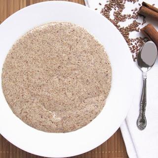 Low Carb Hot Cinnamon Flax Meal Porridge.