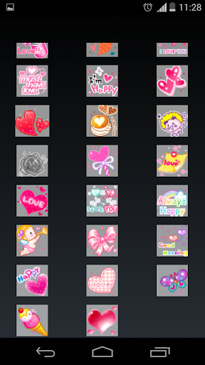 emoticons love for chat