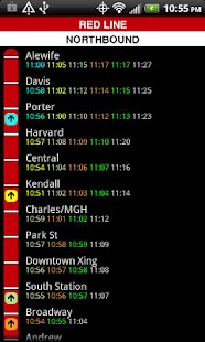 MBTA T Times- screenshot thumbnail