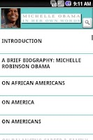 Screenshot of Michelle Obama: Her Own Words