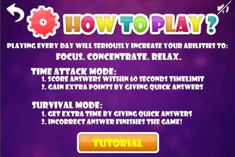 Brain Training : Focus- screenshot