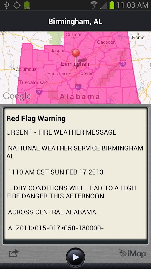 WRAL Weather Alert - screenshot