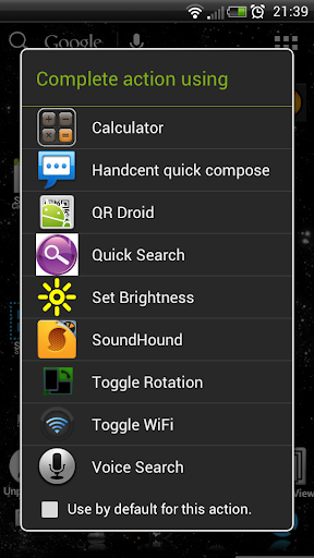 Search Button Calc Shortcut