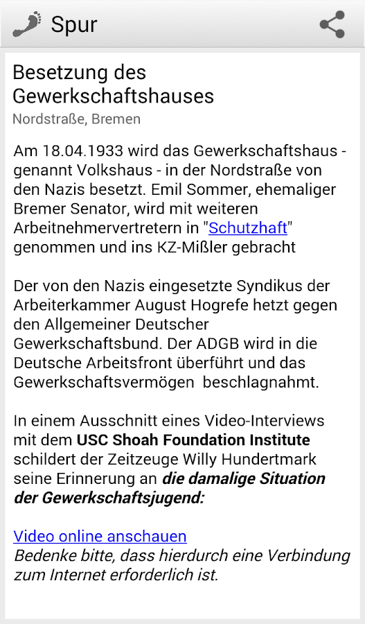 Spurensuche- screenshot