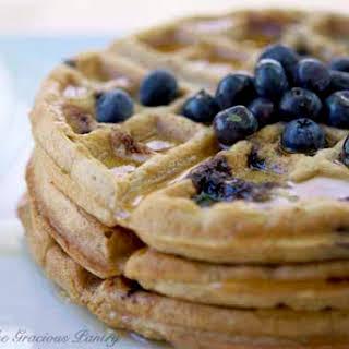 Clean Eating Lemony Blueberry Waffles.