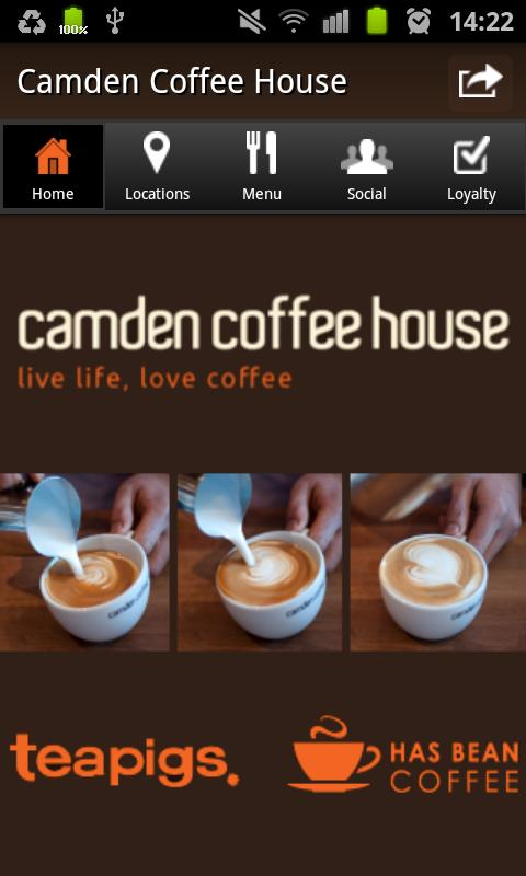 Camden Coffee House - screenshot