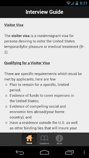 US Visitor Visa Interview Prep