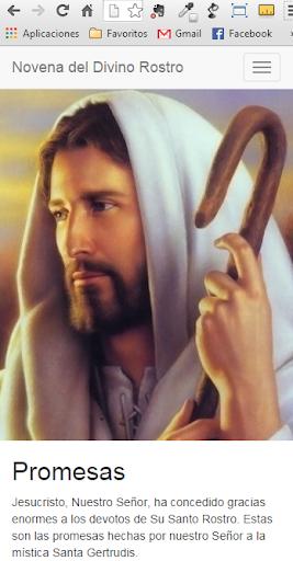 Novena del divino rostro Jesus