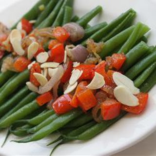 Green Beans with Almonds and Caramelized Shallots.