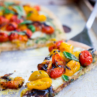 Caprese Pizza with Oven Roasted Tomatoes