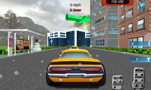 3D圣诞老人出租车驱动器