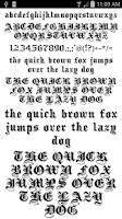 Screenshot of Fonts for FlipFont 50 10
