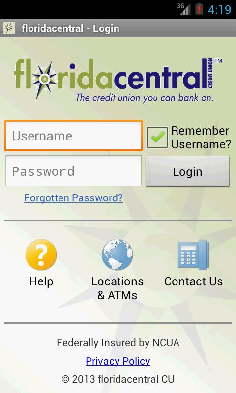 floridacentral Credit Union - screenshot