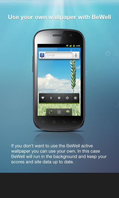 BeWell - screenshot